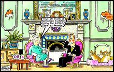 2014-01-29 express British Royals, Royalty, Cartoon, History, Pink, Royals, Historia, Hot Pink, Cartoons