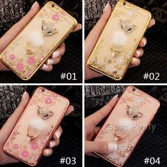 JPY ¥723 1個 可愛い狐*花*フラワーデザインソフトボールメタルホルダーiphone5/6/6 plusバックケース携帯ケースフォンカバー - harunouta.com