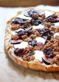 The Cilantropist: Sausage and Goat Cheese Pizza, with Balsamic Onions and Fresh Figs