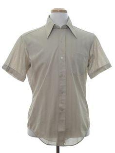 1970's Mens Solid Shirt