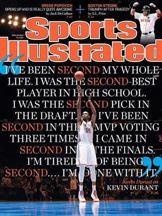 KD on the Sports Illustrated cover