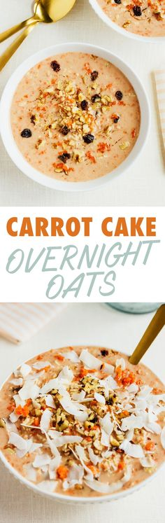 Eat cake for breakfast with this recipe for CARROT CAKE OVERNIGHT OATS
