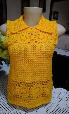 Crochet Beach Dress, Crochet Summer Dresses, Crochet Shirt, Crochet Cardigan, Crochet Lace, Crochet Bikini, Crochet World, Pineapple Crochet, Crochet Fashion