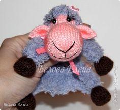Игрушка Мастер-класс Новый год Вязание спицами Мини-овечка Пряжа фото 1