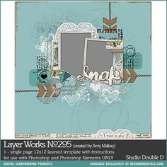 Layer Works No. 295- Studio Double-D Templates- LT694035- DesignerDigitals