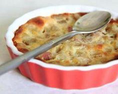 Clafoutis au fromage blanc, rhubarbe et cannelle sans gluten