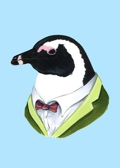 Penguin Print. He's so dignified. He would be a nice addition to Ang's collection.