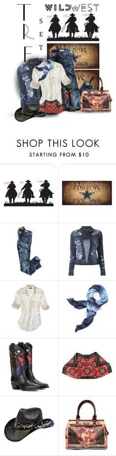 """""""Wild West Style"""" by sherry7411 on Polyvore featuring H&M, Philipp Plein, Madewell, Tory Burch, Valentino, Alexander McQueen, Nicole Lee, polyvoreeditorial, polyvorecontest and wildwest"""