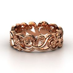 14K Rose Gold Ring   Poseidon Band...putting in some diamonds in between and its looking GOOD