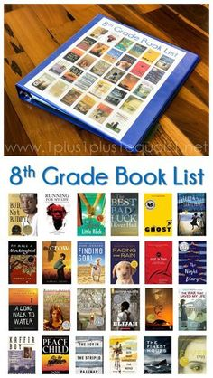 8th Grade Book List ~ also, learn how to make your own visual reading list, a great idea to encourage reading and book choices. #1plus1plus1 #homeschool #homeschooling #booklists #readinglists #literacy #8thgrade #middleschoolbooks #middleschool