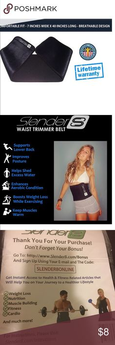 Slender 8 Waist Trimmer Belt Waist Slimmer Unisex Slender 8 Waist Trimmer Belt - Waist Slimmer For Men and Women - Support Your Lower Back and Improve Your Fitness Level - Boost the Benefits of Your Workout - Target Abdominal Area for Weight Loss - Start Toning and Slimming Down Slender 8 Intimates & Sleepwear Shapewear