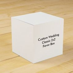 Custom Wedding Classic 2x2  Favor Box Party Favor Boxes