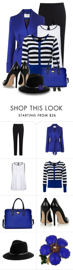 """""""Royal Blue Cashmere Belted Coat"""" by snickersmother ❤ liked on Polyvore featuring Paul Smith, L.K.Bennett, Isabel de Pedro, Gianvito Rossi, rag & bone and Kate Spade"""