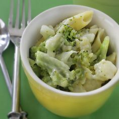 Cauli-Broc and Cheeze - Healthy, Fast and Fabulous! The best take on Mac N Cheese yet.