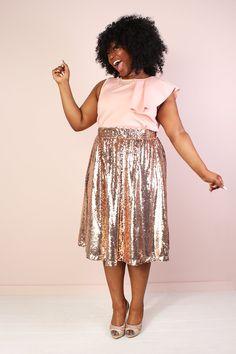Mermaiden Sequin Skirt - Rose Gold