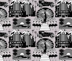 Deco Drama fabric by kociara on Spoonflower - custom fabric