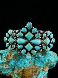 1a7c4a221 Native American Bracelets from Navajo, Hopi, Zuni and More. Turquoise  CuffVintage TurquoiseTurquoise BraceletVintage Silver JewelryTurquoise  JewelrySterling ...