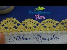 Bico de croche carreira única #247 - YouTube Crochet Blanket Edging, Crochet Edging Patterns, Crochet Lace Edging, Crochet Borders, Crochet Trim, Crochet Designs, Crochet Doilies, Crochet Flowers, Crochet Baby