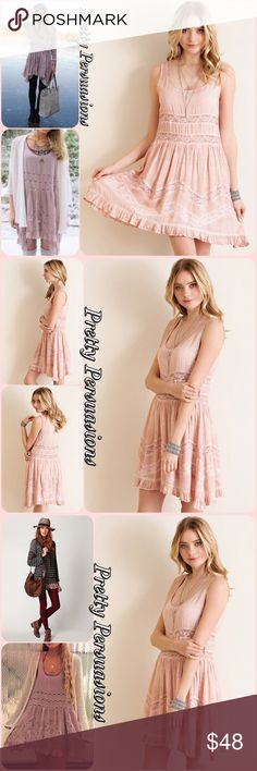 Acid Washed Blush Viole & Lace Babydoll Slip Dress Features * acid washed * sheer lacepanellingaround the waist * non sheer lace zigzagdetailing on skirt * ruffled hem * non-sheer * lined skirt  Pair w/a slouchy cardigan or sweater, over the knee socks