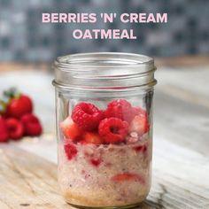 Berries 'n' Cream Instant Oatmeal Recipe by Tasty