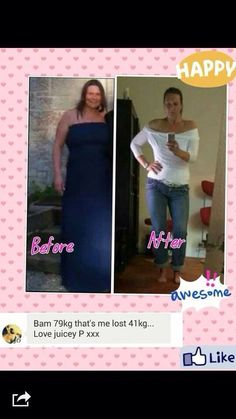 Juice Plus customer.. Before and after  The results are amazing