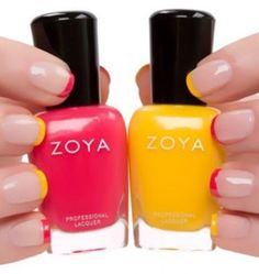 Smalti Zoya per french manicure colorata