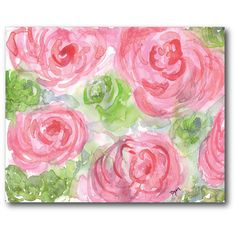Found it at Wayfair - Watercolor Flower Gallery Wrapped Canvas in Pink