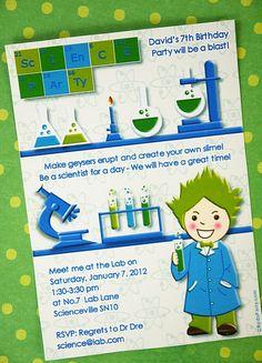 Convite - pequeno cientista