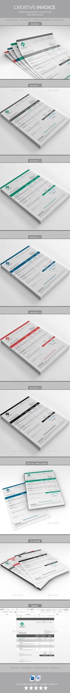 Invoice Template #design Download: http://graphicriver.net/item/invoice/12758272?ref=ksioks
