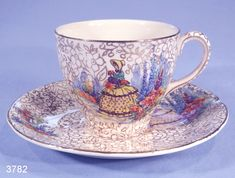 J Fryer and Sons Crinoline Lady Vintage Tea Cup and Saucer ...