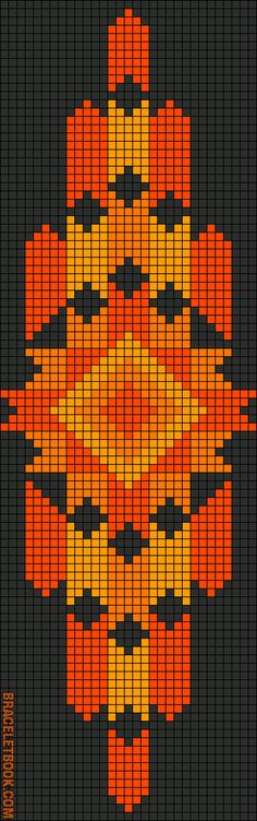 Rotated Alpha Pattern #11132 added by CWillard #beading #beadwork #loom #pattern #cross_stitich