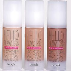 Benefit Cosmetic Hello Flawless liquid foundation - love, can't wait to try it on. Hello Flawless Oxygen Wow, Liquid Foundation, Benefit Cosmetics, Great Hair, Healthy Hair, Product Launch, Nail Polish, Make Up, Manicure