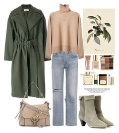 """19.01.18"" by caglatersak on Polyvore featuring moda, Maison Flâneur, RE/DONE, Isabel Marant, Samira 13, See by Chloé, Stila, La Mer, Estée Lauder ve Chloé"