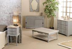 Bahut en bois grisé 2 portes 2 tiroirs CARLA - Maison Facile : www.maison-facile.com