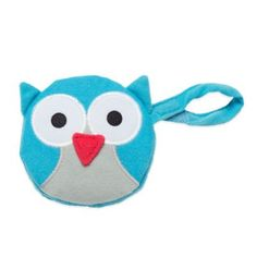 J.L. Childress Owl Pacifier Pal Pacifier Pocket in Teal - buybuyBaby.com