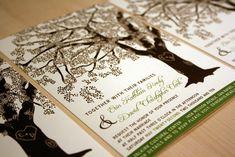 Tree wedding invite