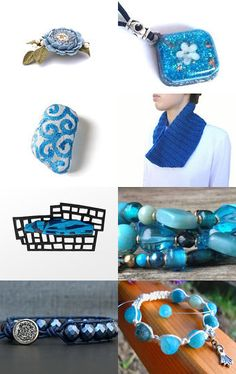 2086 - Blue Finds!  by Shelley on Etsy--Pinned with TreasuryPin.com