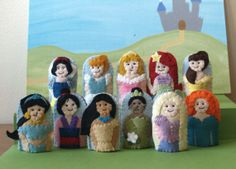 Princess Finger Puppet Set Choose 4 by raindropstops on Etsy, $32.00