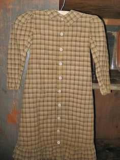 Early brown check dress