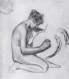 J. C. Leyendecker - unsigned drawing (circa 1900)