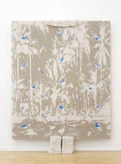 HÉCTOR ARCE-ESPASAS Untitled (CL-S), 2014 Stoneware clay and acrylic on linen - ceramic supports 83 1/2 × 59 4/5 in 212 × 152 cm Luce Stoneware Clay, Weapon, Objects, Artsy, Ceramics, Sculpture, Landscape, Gallery, Artwork