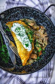 Obiad gotowy!: Placek po zbójnicku z sosem grzybowym Polish Recipes, Polish Food, Lamb, Pork, Food And Drink, Meat, Chicken, Dinner, Ethnic Recipes