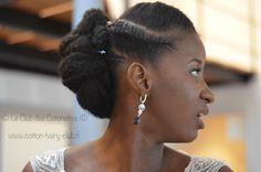 marriee naturelle cheveux crépu coiffure de mariage
