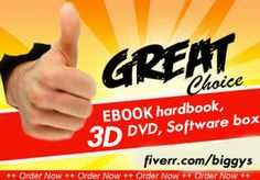 create ur design into 3D ebook covers, hardbook, software box,... by biggys