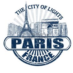 Illustration of Grunge rubber stamp with the name of Paris ( The City of Lights), France written inside, vector illustration vector art, clipart and stock vectors. Paris Crafts, Surfing Pictures, Creative Background, Paris City, Custom Stamps, Grafik Design, Photoshop, City Lights, Paris France