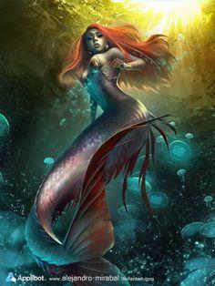 Mermaid 1 by *Alejandro-Mirabal on deviantART