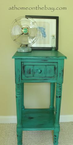 Annie Sloan Florence painted nightstand. Obsessed with this paint! Just painted a mirror with it and i am in love!
