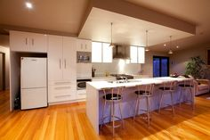 - Laminate Benchtops with Waterfall Ends