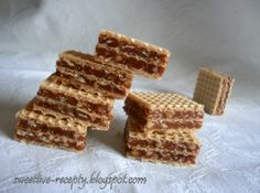 Plnené oplátky - My site Czech Recipes, Russian Recipes, Mexican Food Recipes, Sweet Recipes, Dessert Recipes, Cupcakes, Cake Cookies, Christmas Sweets, Christmas Baking