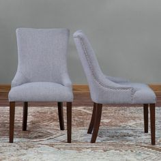 Belham Living Frances Dining Chair - Set of 2 - Have a sleek, chic place to sit at the dining table with the Belham Living Frances Dining Chair- Set of 2. These contemporary side chairs are sold in ...